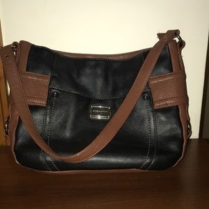 Stone Mountain Black and Brown Soft Leather Purse